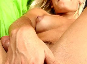 Naughty Blonde T-Girl Poses Naked
