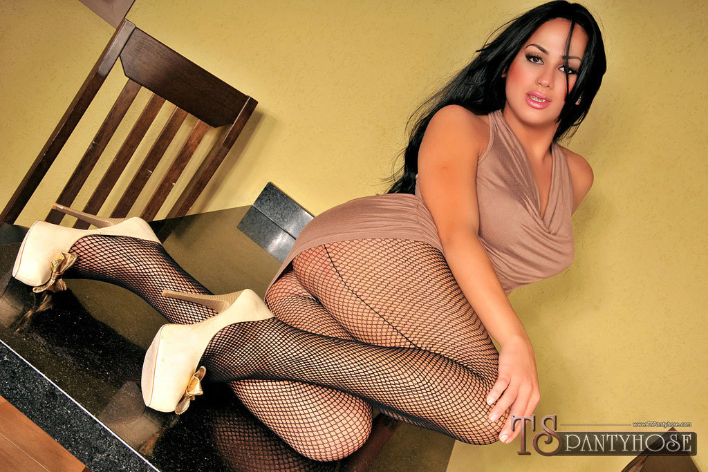 TS Pantyhose Clad Barbie Getting Fucked