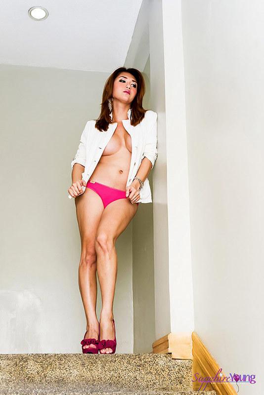Asian Femboy Beauty Nude In The Stairway