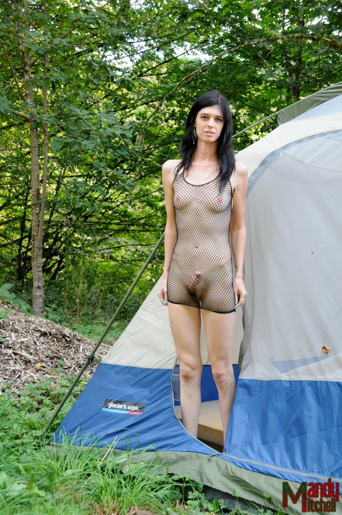 Sensuous Transsexual Mandy Mitchell Getting Nasty In The Woods
