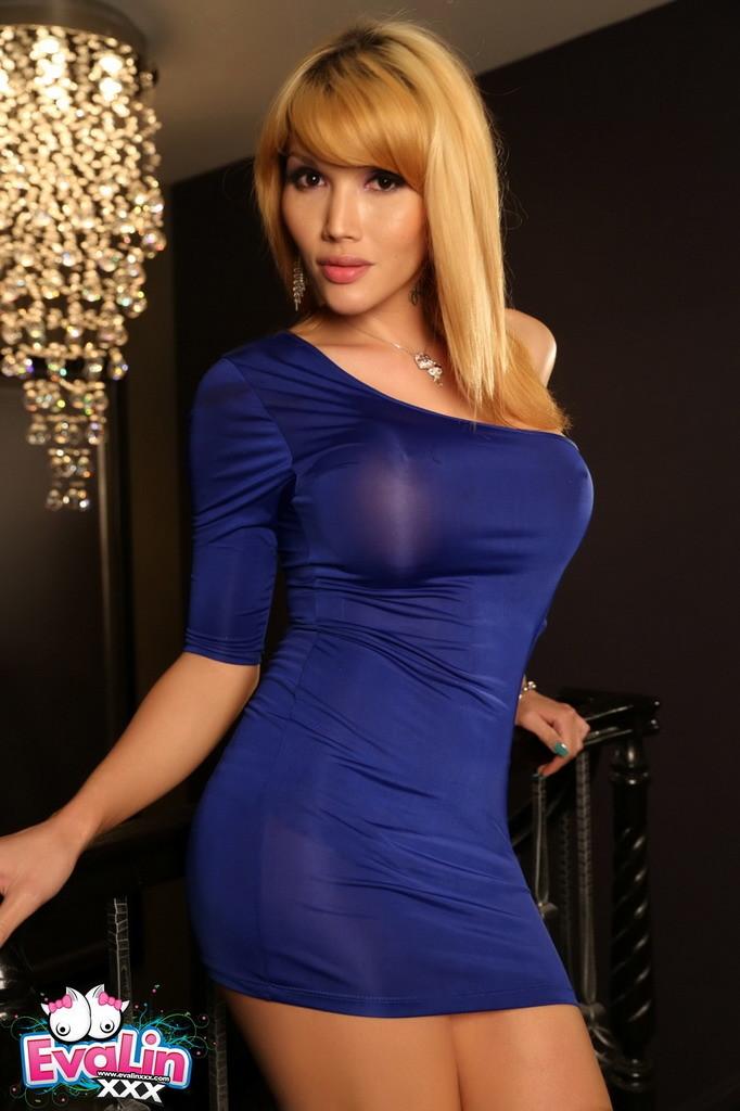 Gorgeous Eva Posing In A Dress