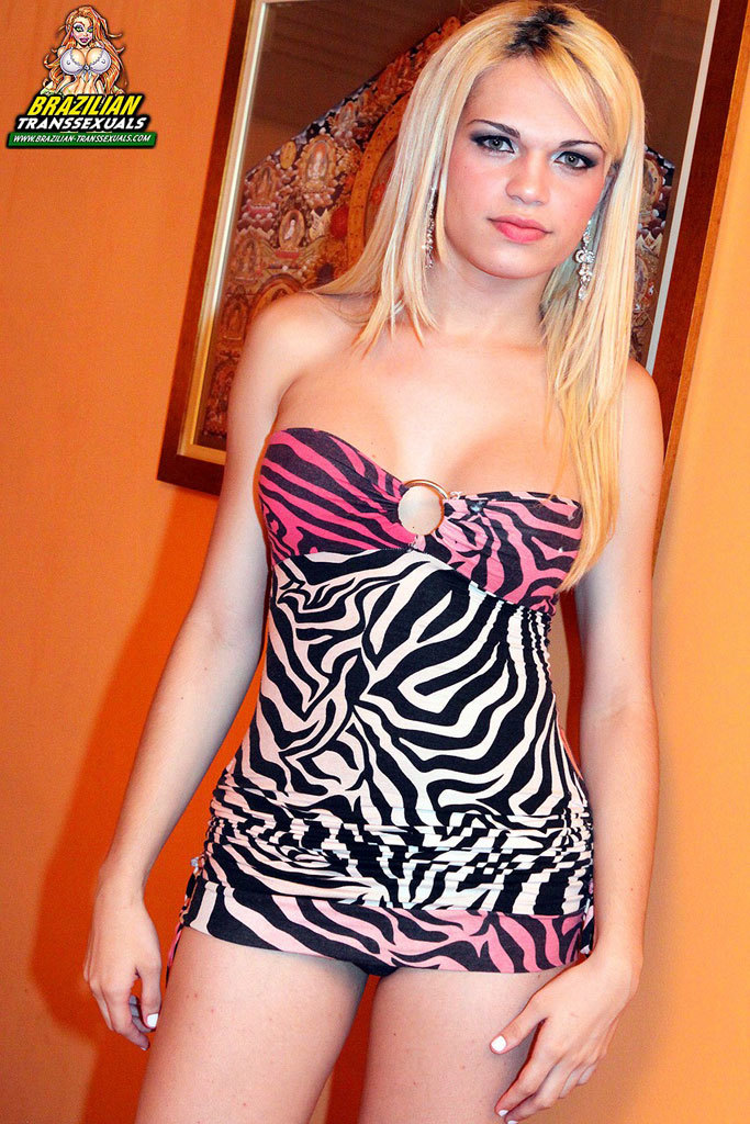 Sexy Blonde Brazilian With A Rock Hard Cock!