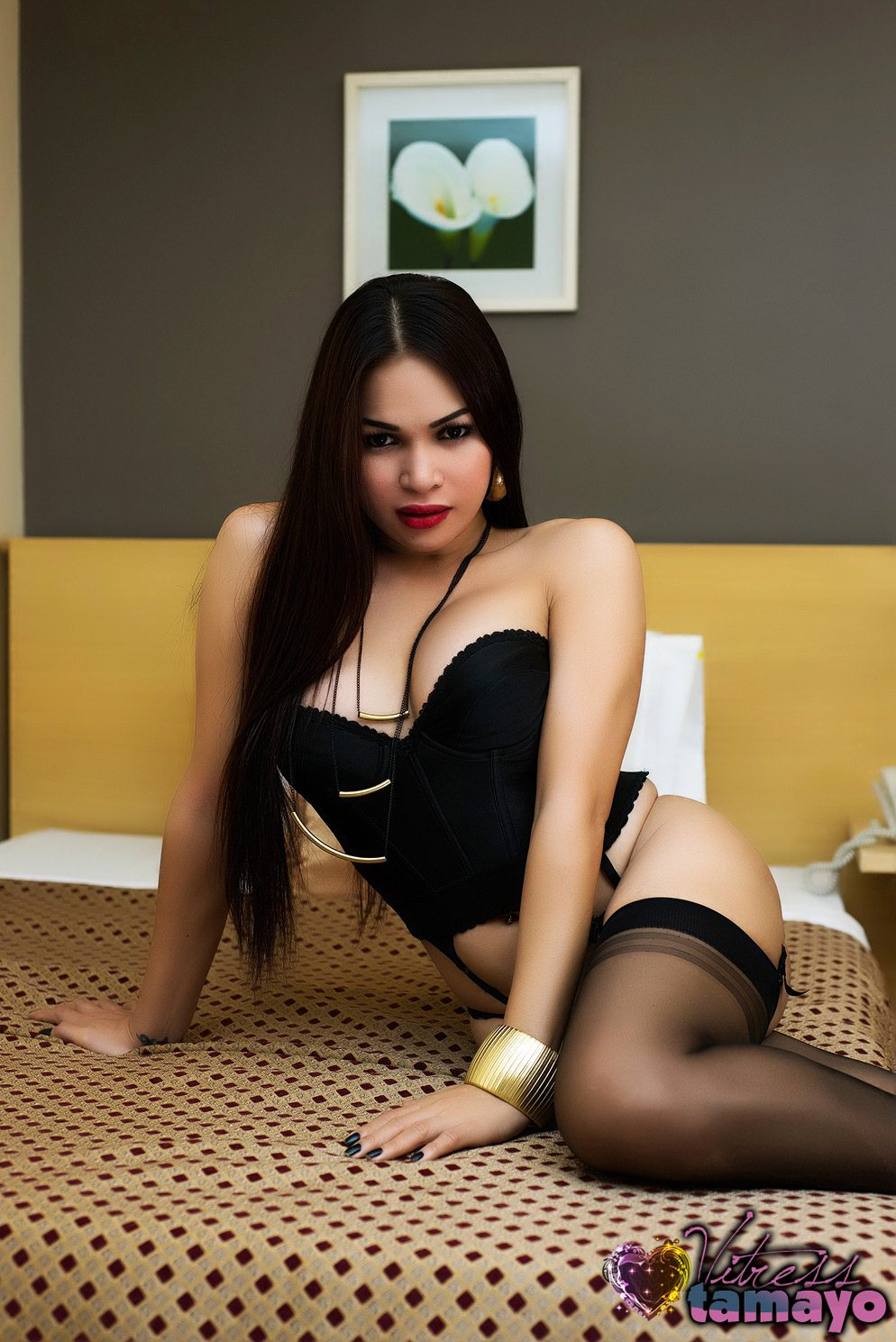 Glamorous Asian Femboy With Cute BOOBS In Stockings And