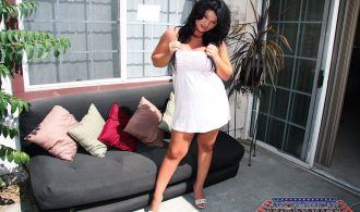 Chubby T-Girl Shows Us Us Off Her Body Outdoors