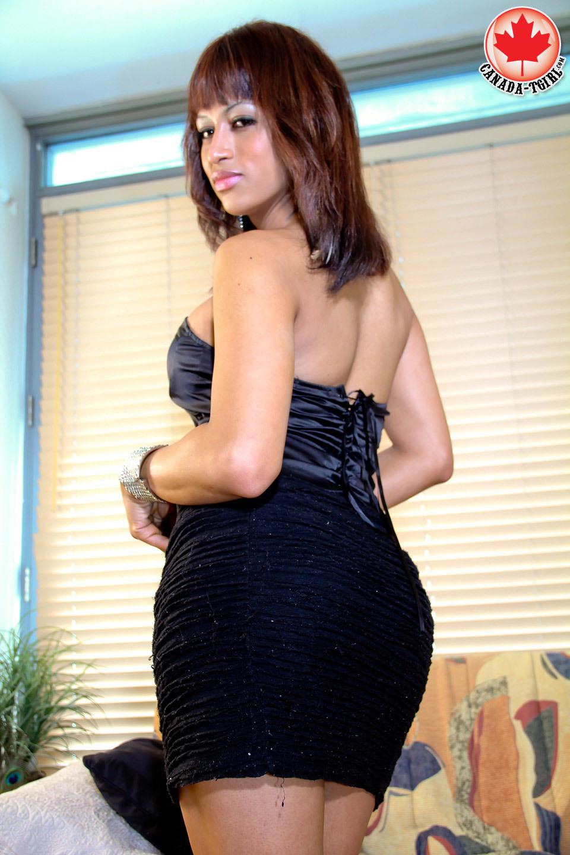 Flirtatious Anabella In Black Dress
