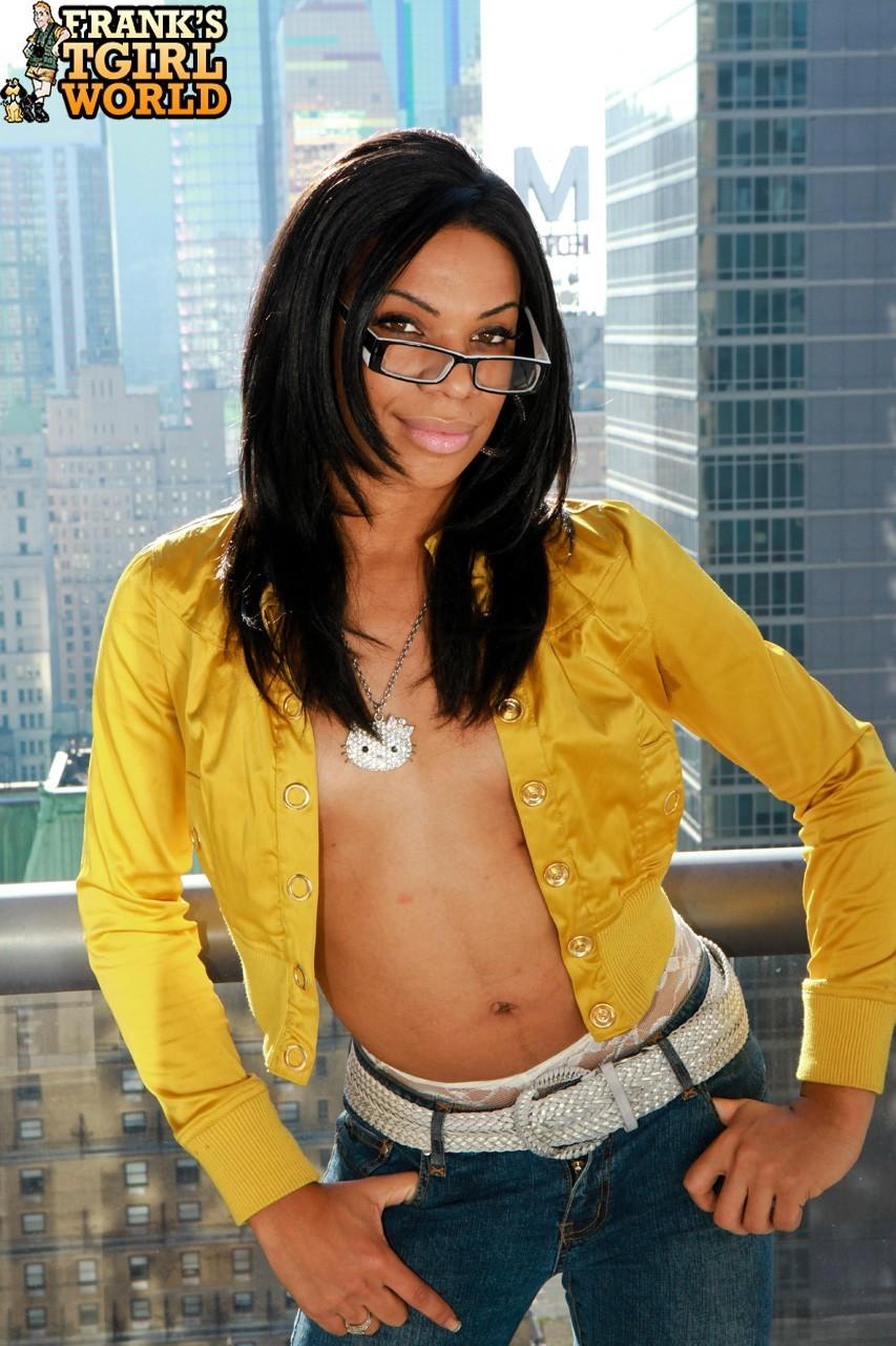 Cute Sasha Takes Off Perfect Yellow Jacket