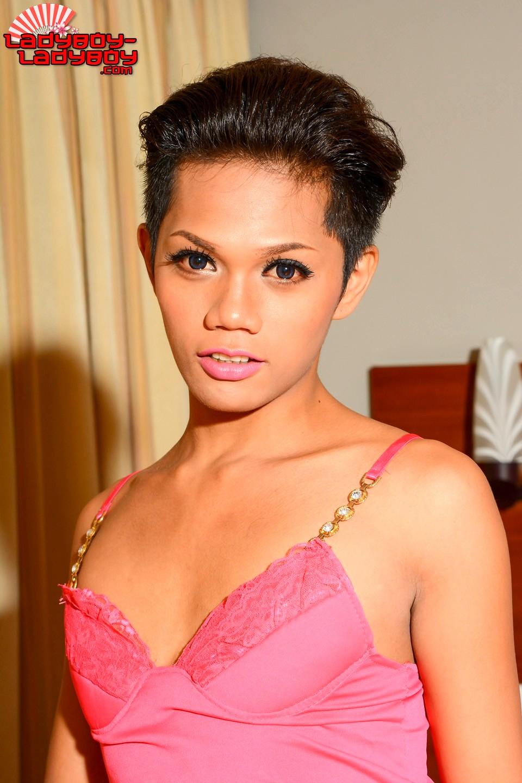 Maycee Tgirl In Pink Undies