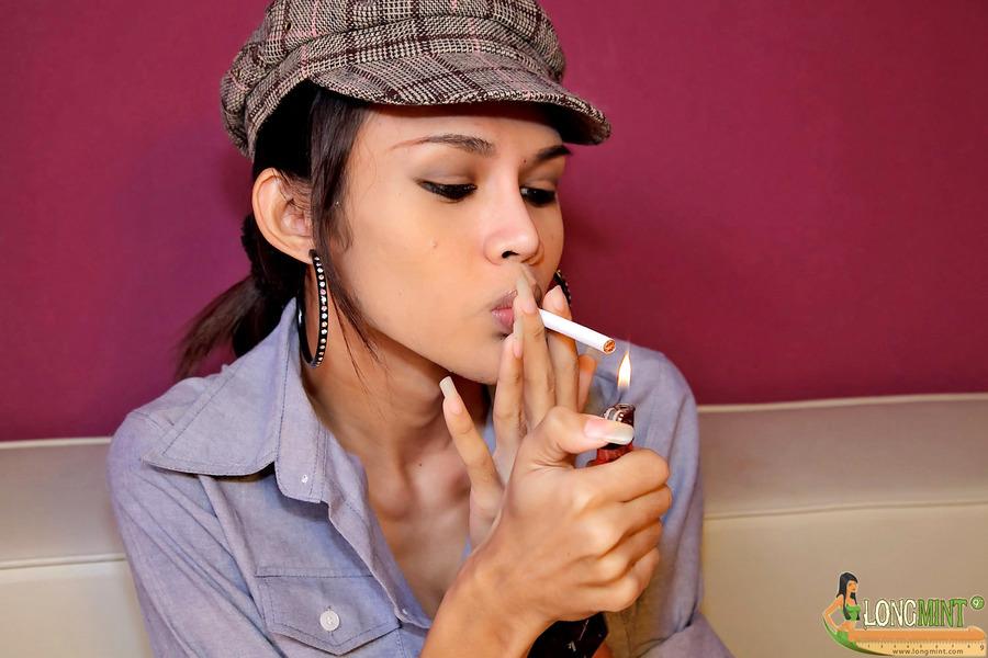 Long Mint As Inviting Smoker
