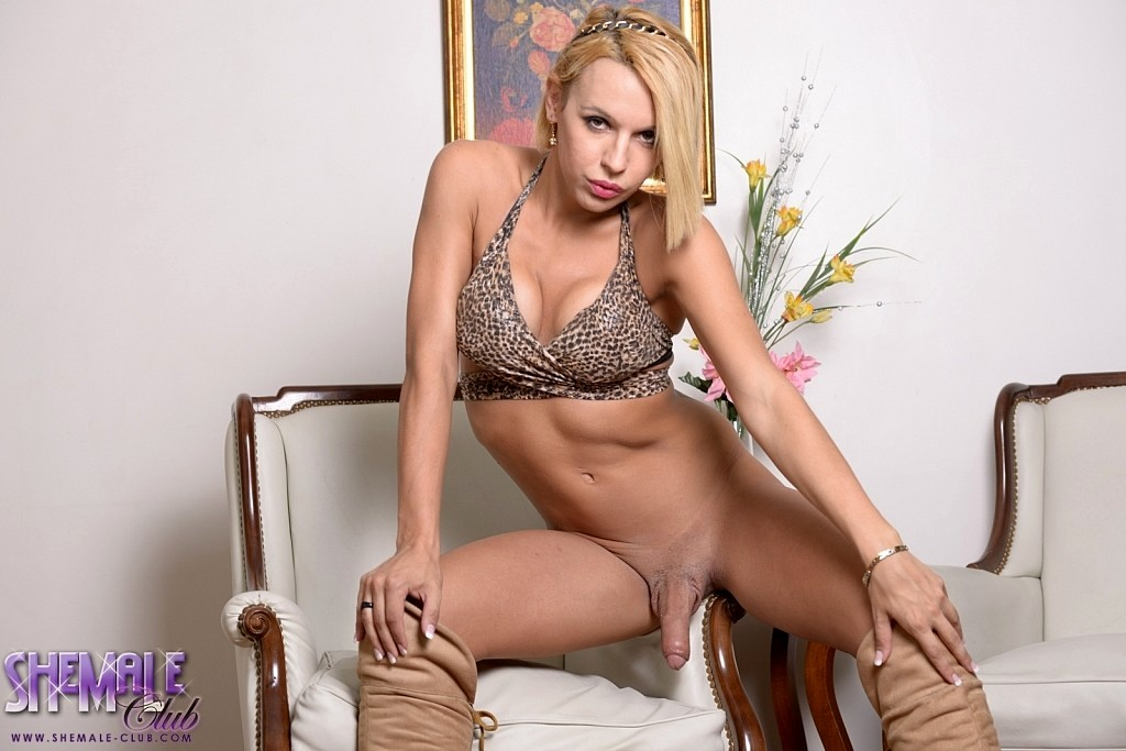 Lola Seductive Transexual Stroking Her Tool