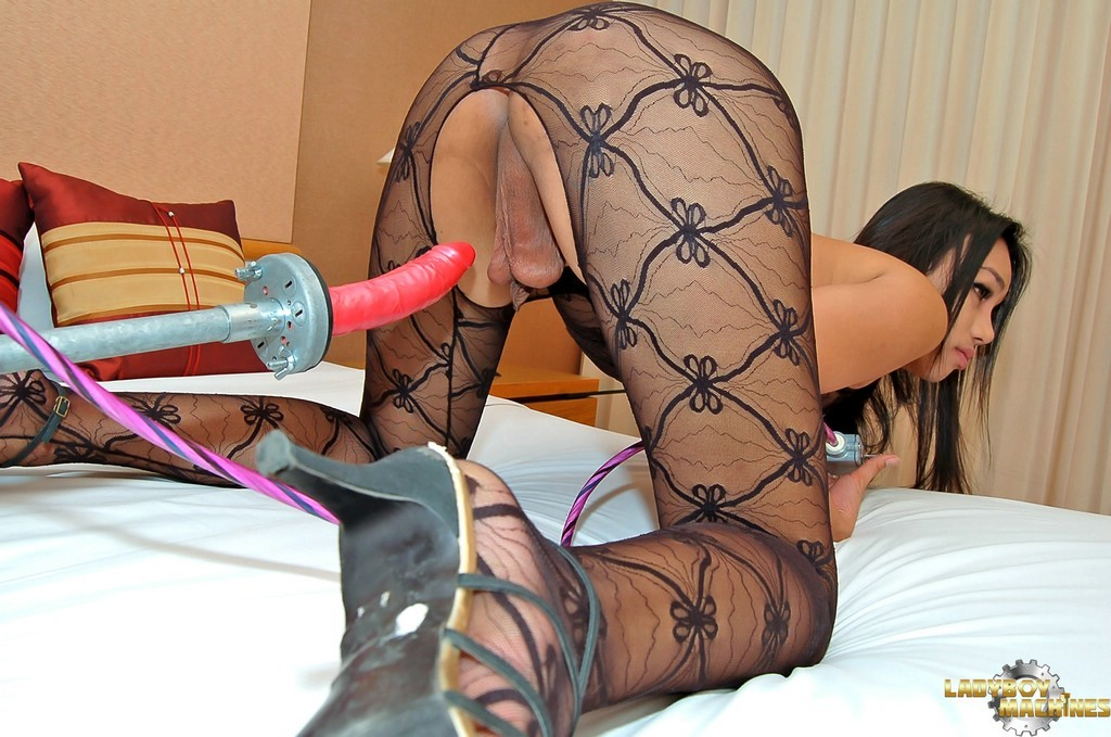 TGirl Nina Blows Dirty Machine