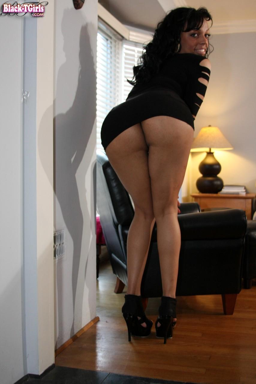 Ladyboy Brittany Fox Sensual Black Dress
