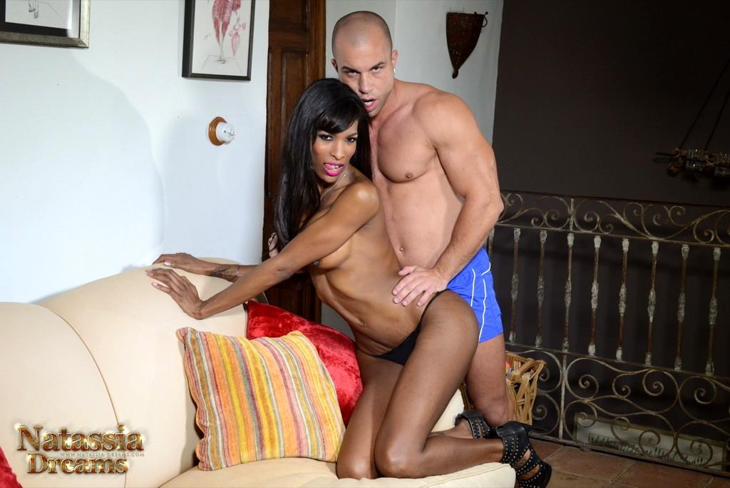 Ebony Natassia Rides A Huge Cock
