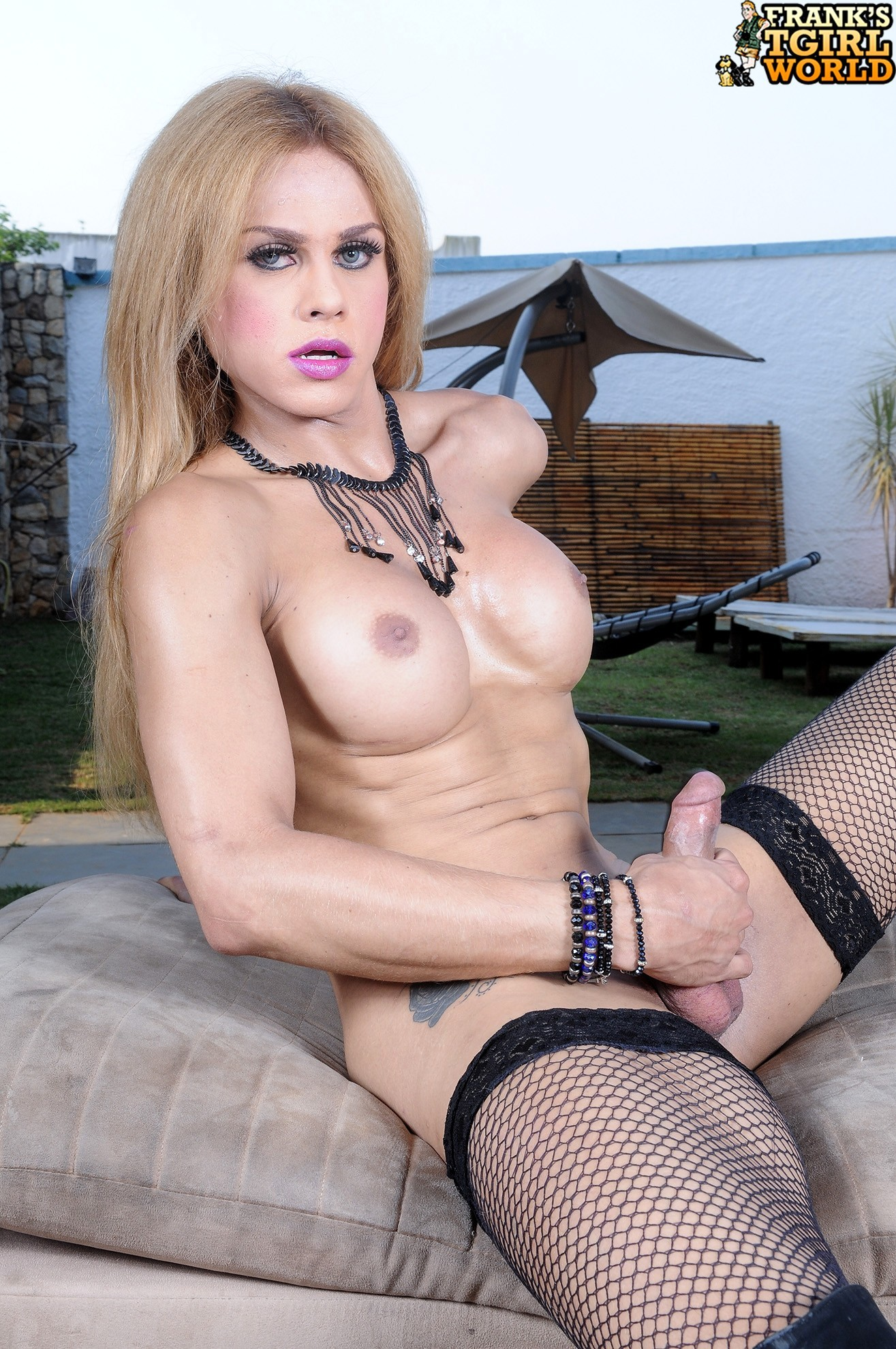 Blonde Tgirl Is Horny And Provocative