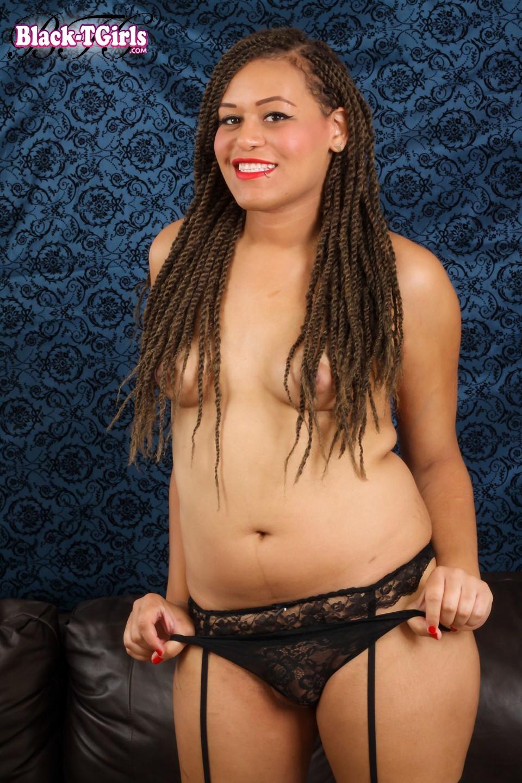 Amber Skye Posing In Pencil Skirt